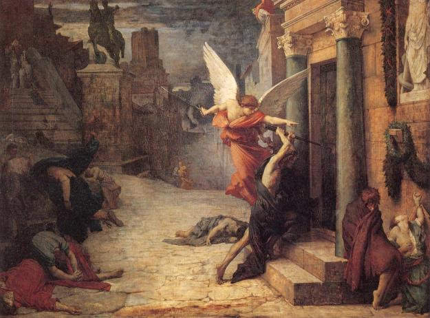 Plague In Rome, by Jules-Élie Delaunay