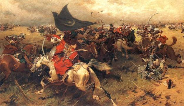 The Battle of Manzikert, by Józef Brandt