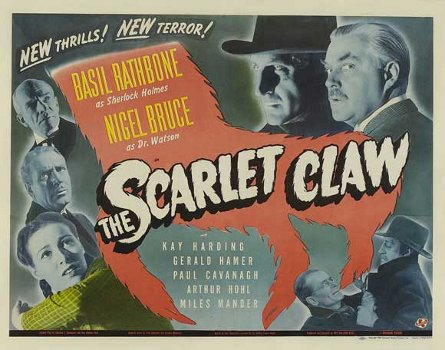 scarlet claw poster