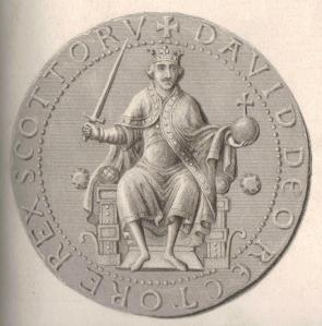 David's official seal. Deliberately European in style, not Celtic. Source: Wikimedia Commons