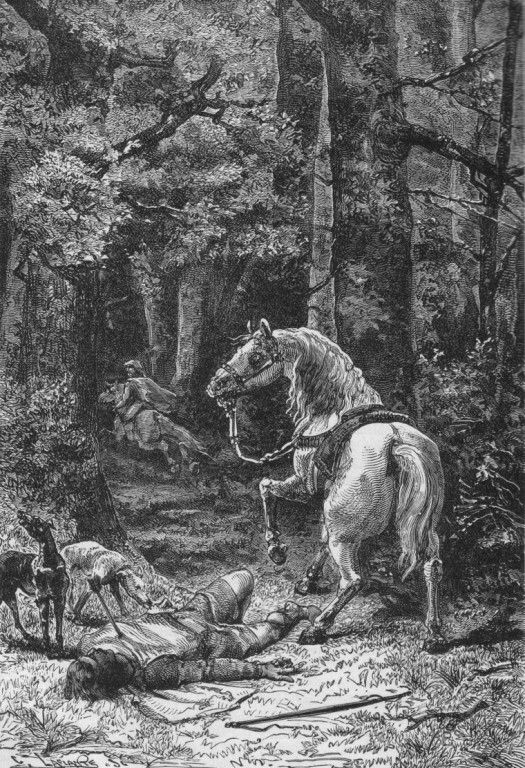 Death of William Rufus, by Alphonse-Marie-Adolphe de Neuville