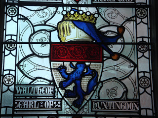Waltheof Commemoration Window in the Great Hall in Winchester. Photo via A Clerk In Oxford