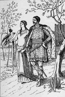 Emma and Ralph. Woodcut from The Siege of Norwich Castle http://www.gutenberg.org/files/41168/41168-h/41168-h.htm