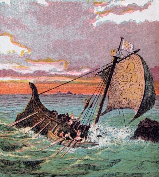 Wreck of the White Ship, by Joseph Martin Kronheim