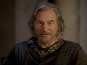 Patrick Stewart as Henry II in The Lion In Winter</i.