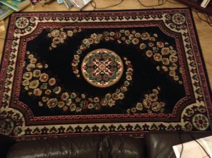 The rug itself.