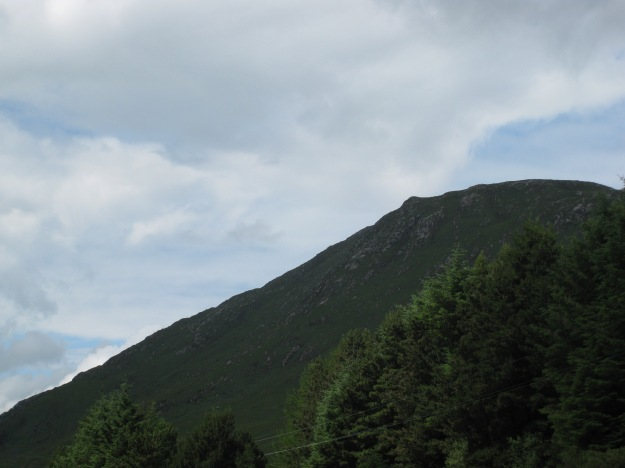 One of the two great mountains that make up Barnesmore Gap.