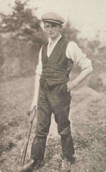 A rare photo of Patrick Macgill in his navvy days.