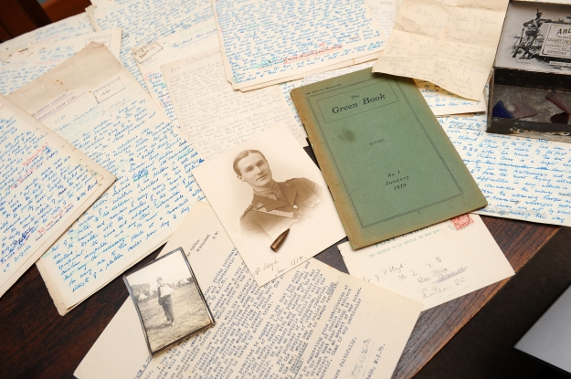 The MI7b papers found by Captain Lloyd's nephew, Jeremy Arter. Image via Will Humphries' excellent detailed article on the story