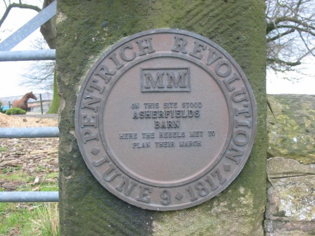 A plaque marking the site where Brandreth and his cohorts gathered.