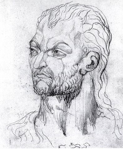 Visionary Head of Owain Glendower William Blake, 1819. Owain was the most famous of the rebels against Henry IV.