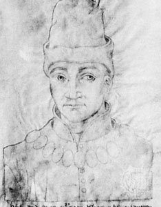 A contemporary sketch of Humphrey, Duke of Gloucester.
