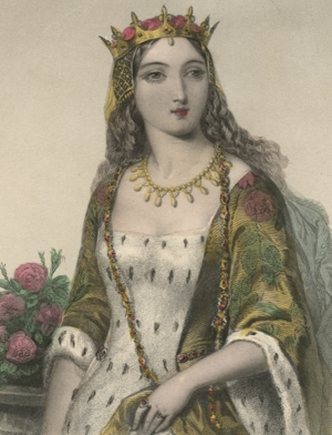 Margaret of Anjou, as depicted in a 19th century French book of medieval art.