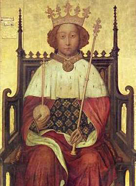 A contemporary portrait of Richard II from the 1390s, currently in Westminster Abbey. It is the earliest known surviving portrait of an English monarch.