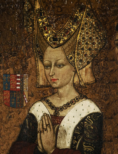 Queen Margaret, unmellowed by age and still determined to see her son on the throne of England.