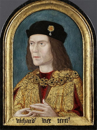 The earliest surviving portrait of Richard III, painted 35 years later and based on a lost original.