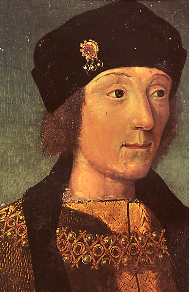 The young Henry Tudor, drawn by a French artist during his exile there.
