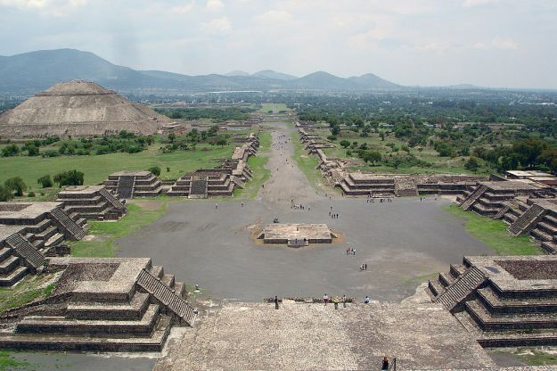 Teotihuacan, seen from the top of the Pyramid of the Moon.