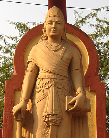 A statue of Chandragupta at the Laxminaryan Temple in Delhi.