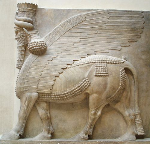 The guardian statues of human-headed bulls, known as Lammasu, are the most iconic features of Assyrian ruins.