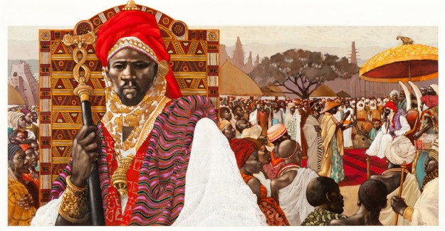 Sonni Ali Ber. Painting by Leo Dillon, for an Anheuser-Busch sponsored series of paintings of great African leaders.