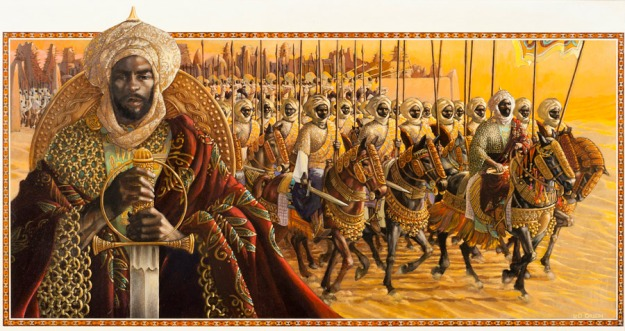 Askia Muhammed Toure Painting by Leo Dillon, for the same series.