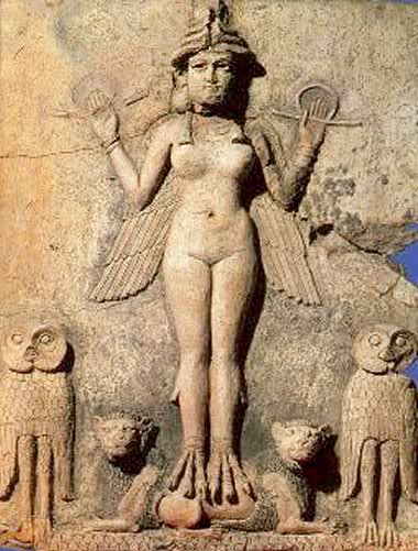 Inanna, goddess of love, fertility and warfare