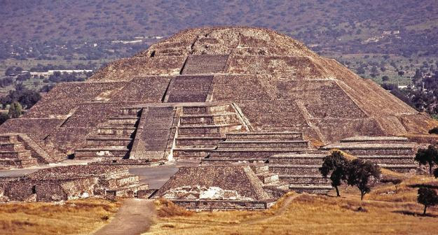 The Pyramid of the Sun. The names given to the buildings of Teotihuacan come from the Aztecs who discovered the city, and so are unlikely to be the original names.
