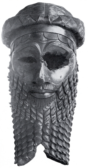 Sargon the Great, the first emperor.  This statue was found in the ruins of Nineveh.