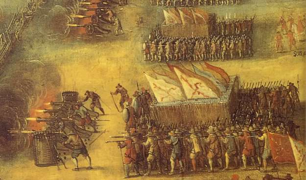 The Moroccans were a 16th century force of Andalusian and Spanish mercenaries, fighting an army with medieval technology. Despite a ten-to-one disadvantage in numbers, the outcome is less than surprising.