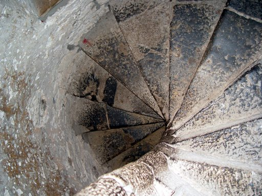 Spiral staircase in Leap Castle