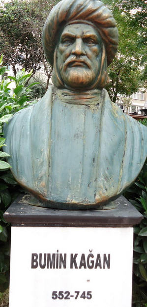 A statue of Bumin Kagan, in a park in Istanbul.