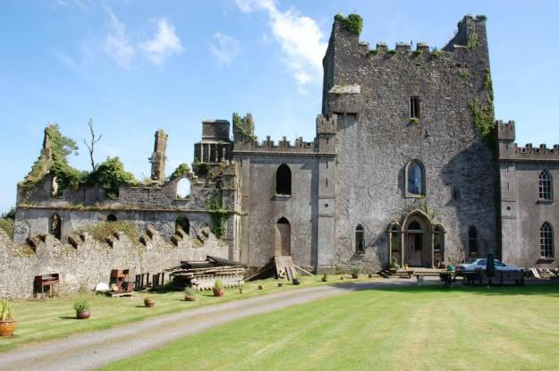 Leap Castle, Co. Offaly, looking innocuous on a sunny day