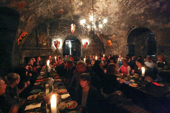 One of Dunguaire Castle's Medieval Banquets, in full swing!