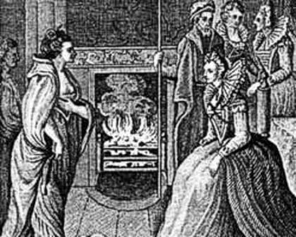Gráinne Ní Mháille, anglicized as Grace O'Malley, was the most famous Irish pirate. This engraving shows her meeting Queen Elizabeth - a memorable occasion for all involved.