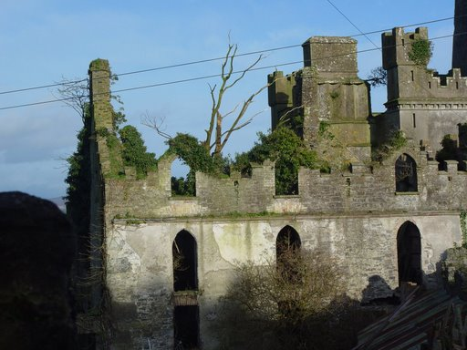 The ruined part of the castle.