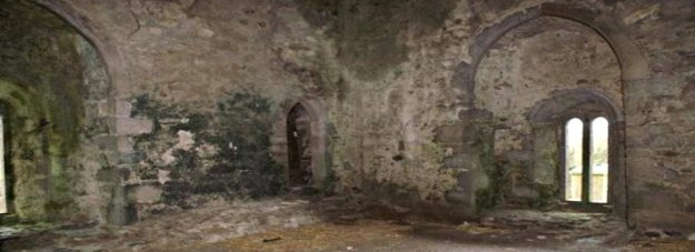 """The """"Bloody Chapel"""", in the ruined part of the castle."""