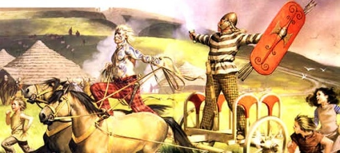 Niall of the Nine Hostages, a legendary High King of Ireland. The O'Molloys claimed descent from his son Fiacha.