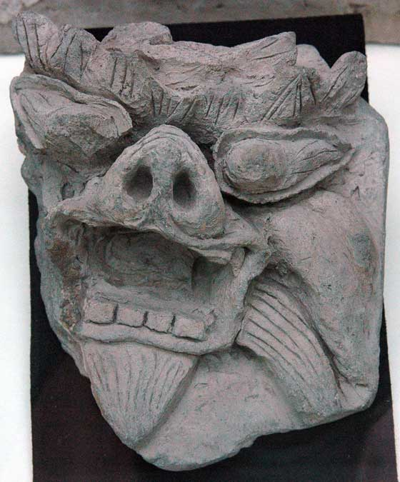 A stone carving, found in ruins dating back to the western half of the Turkic Empire.