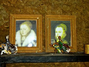 A pair of pictures at nearby Birr Castle, that some speculate may depict the Clonony Boleyn sisters.