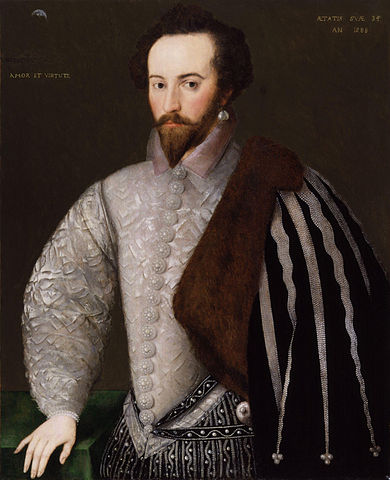 Sir Walter Raleigh, famous kinsman of the Chapman patriarchs.