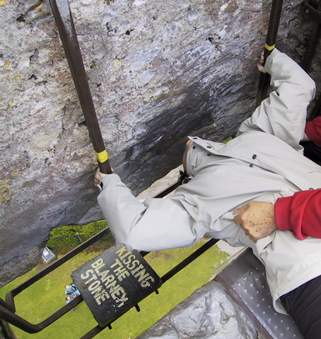Even with safety bars in place, kissing the stone is not for the faint of heart!