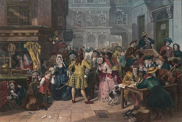 The South Sea Bubble, by Edward Matthew Ward. Possession of Blarney Castle certainly gave the Hollow Sword directors the gift of the gab, as they fleeced the City of London for millions.