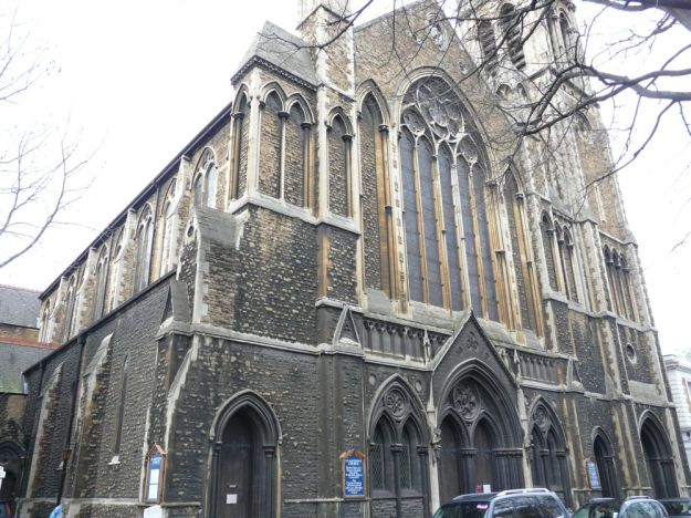 "St Matthew's in Bayswater, where the grave of ""Lady O'Looney"" lies."