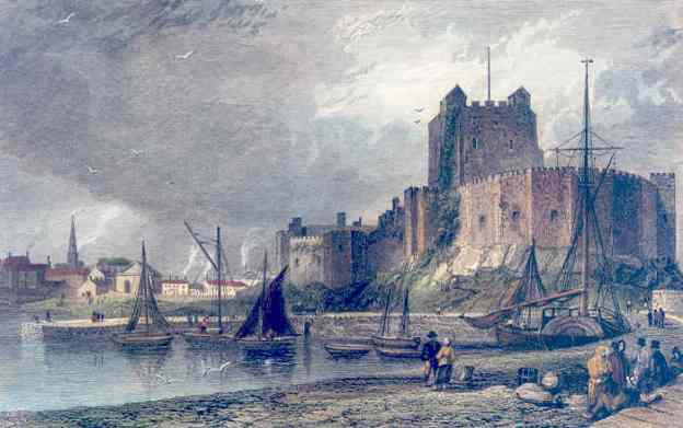 Painting of Carrickfergus Castle. Age and painter unknown to me.