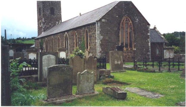 St Cedma's in Larne, where Doctor McHenry was buried. He spent his last few years living in the town of his birth.