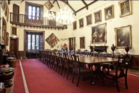 The Great Hall in Malahide Castle, where the White Lady's picture is reputed to have been.