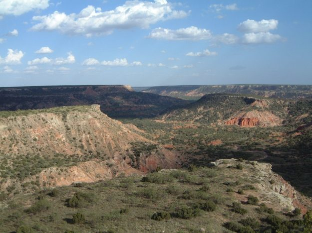 Palo Duro Canyon. Photo via Wikimedia Commons.