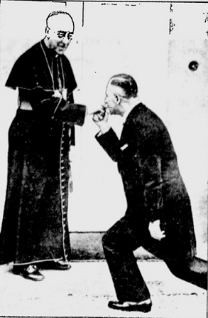 The controversial photo of Father Robinson and von Dehn-Schmidt