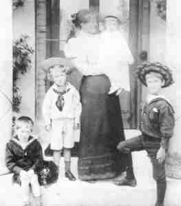 Sarah Lawrence and several of her children.